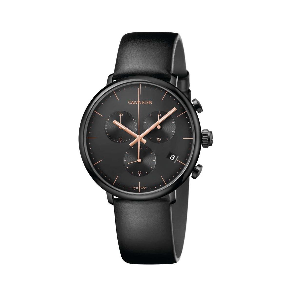Đồng hồ Calvin Klein K8M274CB Nam 43mm, Quartz (Pin), Thép không gỉ, mạ PVD