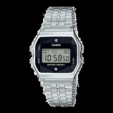 Đồng hồ CASIO A159WAD-1DF Nữ 36.8 x 33.2mm, Pin ( Quartz) Thép không gỉ