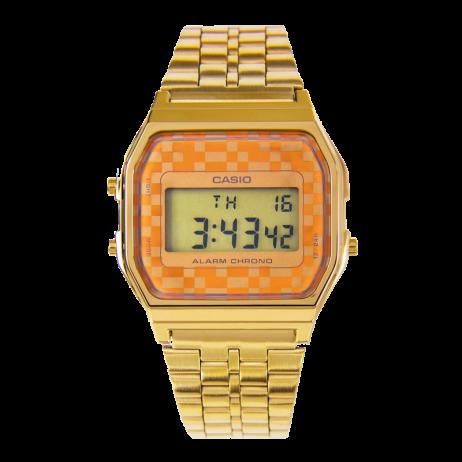 Đồng hồ CASIO A159WGEA-9ADF Nữ 36 x 33mm, Pin ( Quartz) Thép không gỉ, mạ PVD