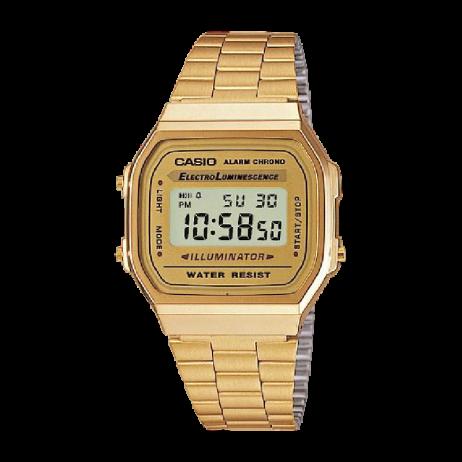 Đồng hồ CASIO A168WG-9WDF Nữ 36 x 33mm, Pin ( Quartz) Thép không gỉ, mạ PVD