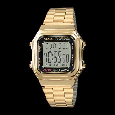 Đồng hồ CASIO A178WGA-1ADF Nữ 39.5 x 32.5mm, Pin ( Quartz) Thép không gỉ, mạ PVD