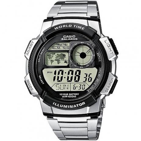 Đồng hồ CASIO AE-1000WD-1AVDF Nam 44mm, Pin ( Quartz) Thép không gỉ