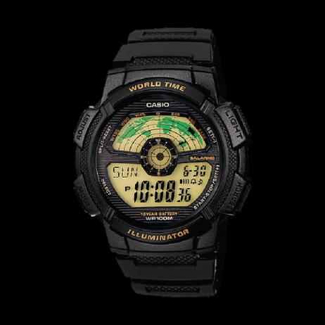 Đồng hồ CASIO AE-1100W-1BVDF Nam 43.7mm, Pin ( Quartz) Nhựa