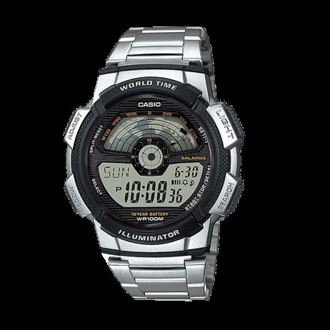 Đồng hồ CASIO AE-1100WD-1AVDF Nam 43.7mm, Pin ( Quartz) Thép không gỉ