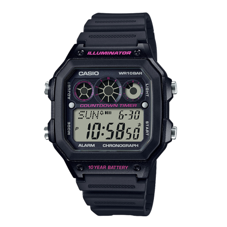 Đồng hồ CASIO AE-1300WH-1A2VDF Nam 45 x 42.1mm, Pin ( Quartz) Nhựa