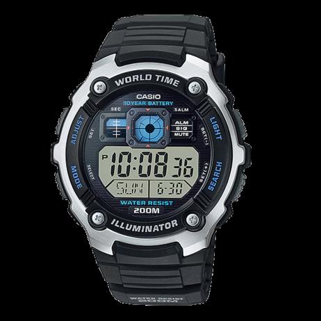 Đồng hồ CASIO AE-2000W-1AVDF Nam 47.7mm, Pin ( Quartz) Cao su