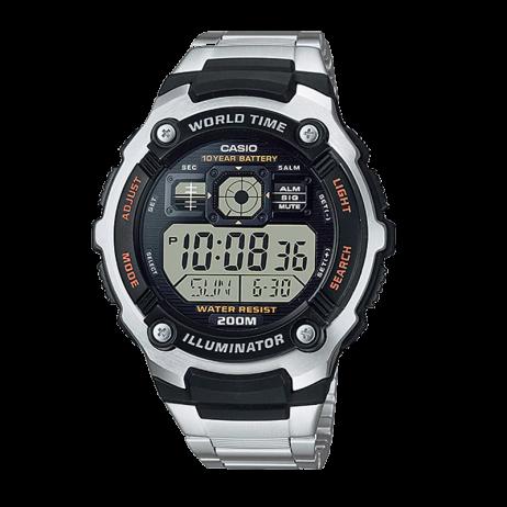 Đồng hồ CASIO AE-2000WD-1AVDF Nam 47.7mm, Pin ( Quartz) Thép không gỉ