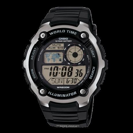 Đồng hồ CASIO AE-2100W-1AVDF Nam 47.7mm, Pin ( Quartz) Cao su