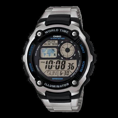 Đồng hồ CASIO AE-2100WD-1AVDF Nam 47.7mm, Pin ( Quartz) Thép không gỉ