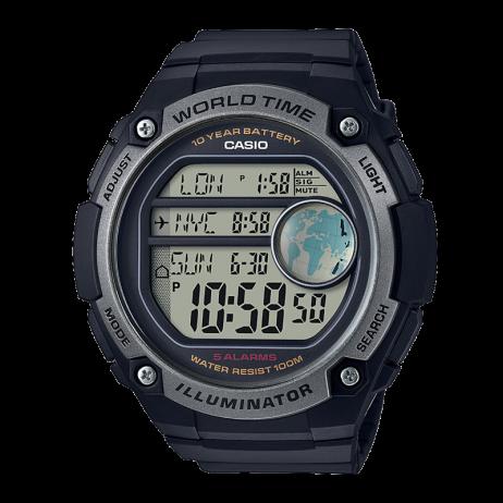 Đồng hồ CASIO AE-3000W-1AVDF Nam 55.5mm, Pin ( Quartz) Nhựa