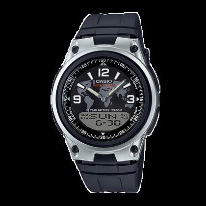 Đồng hồ CASIO AW-80D-1A2VDF Nam 40mm, Pin ( Quartz) Nhựa