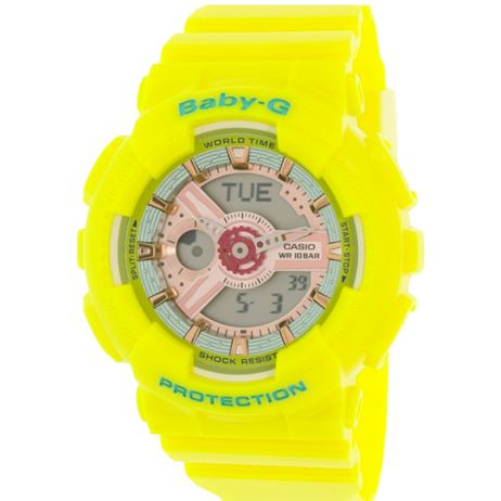 Đồng hồ CASIO BA-110CA-9ADR Nữ 43.4mm, Pin ( Quartz) Nhựa