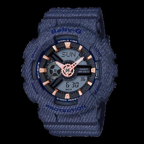 Đồng hồ CASIO BA-110DE-2A1DR Nữ 43.4mm, Pin ( Quartz) Nhựa