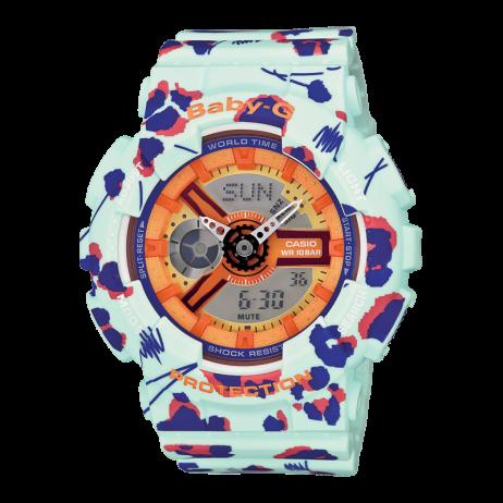 Đồng hồ CASIO BA-110FL-3ADR Nữ 43.4mm, Pin ( Quartz) Nhựa