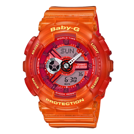 Đồng hồ CASIO BA-110JM-4ADR Nữ 43.4mm, Pin ( Quartz) Nhựa