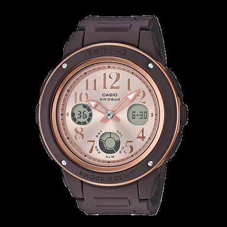 Đồng hồ CASIO BGA-150PG-5B1DR Nữ 42.8mm, Pin ( Quartz) Nhựa