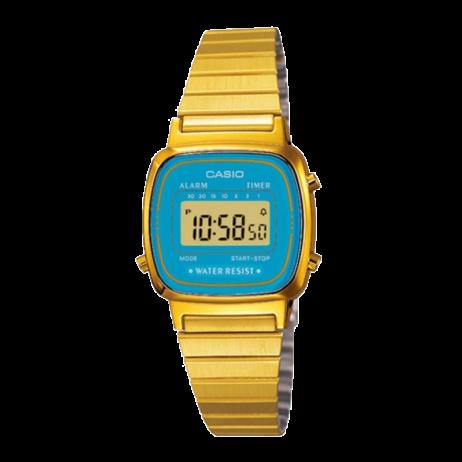 Đồng hồ CASIO LA670WGA-2DF Nữ 30.3 x 24.6mm, Pin ( Quartz) Thép không gỉ