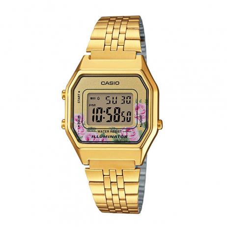 Đồng hồ CASIO LA680WGA-4CDF Nữ 33.5 x 28.6mm, Pin ( Quartz) Thép không gỉ, mạ PVD