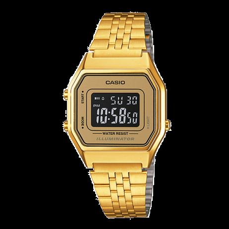 Đồng hồ CASIO LA680WGA-9BDF Nữ 30.3 x 24.6mm, Pin ( Quartz) Thép không gỉ, mạ PVD
