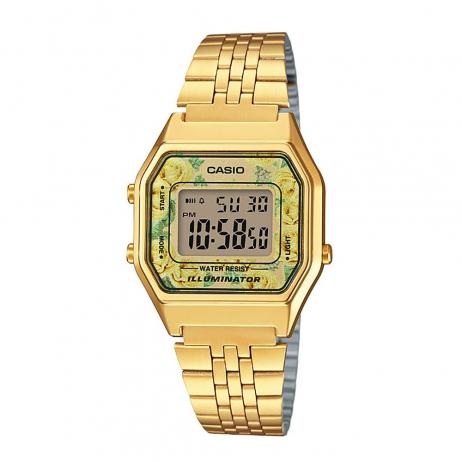 Đồng hồ CASIO LA680WGA-9CDF Nữ 33.5 x 28.6mm, Pin ( Quartz) Thép không gỉ, mạ PVD